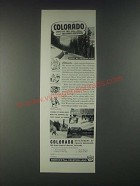 1946 Colorado Tourism Ad - Land of Tall Blue Skies