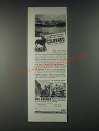 1946 Colorado Tourism Ad - For a Glorious Vacation
