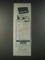 1946 Massachusetts Tourism Ad - Vacation Fun for Everyone