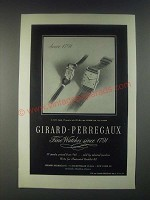 1946 Girard-Perregaux Watches Ad - Since 1791