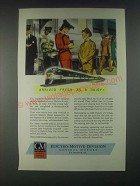 1946 GM General Motors Diesel Locomotive Ad - Arrived Fresh as a Daisy