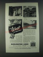 1946 Burlington Route Ad - The West is Waiting