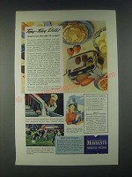 1946 Monsanto Chemicals Calcium Phosphates Ad - Topsy-Turvy Diets!