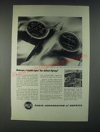1946 RCA Teleran Television Radar Air Navigation Ad - For Blind Flying