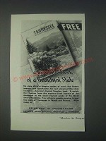 1946 Tennessee Tourism Ad - A Beautiful State