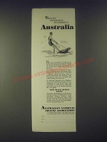 1931 Australian National Travel Association Ad - When It's Winter Here