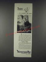 1931 Yosemite National Park Ad - Sierra Marvel