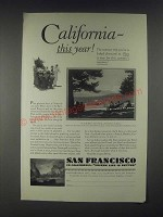 1931 San Francisco California Ad - This Year