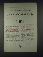 1931 AT&T Bell Telephone Ad - Take Command