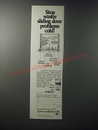 1979 Andersen Windowalls Ad - Stop Winter Sliding Door Problems Cold