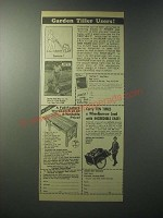 1979 Garden Way Ad - Troy-bilt Tiller, Workbench and Cart