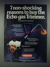 1979 Echo Gas Trimmer Ad - 7 Non-Shocking Reasons