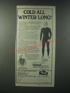 1979 Damart Thermolactyl Underweear Ad - Cold all Winter Long?