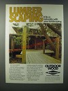 1979 Koppers Wolmanized Pressure-Treated Lumber Ad - Lumber Scaping