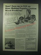 1979 Shopsmith Bryco Router Arm Ad - Making Popular Custom Wood Products