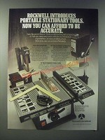 1979 Rockwell Tools Ad - Sander/Grinder, Drill Press, 8-Inch Table Saw
