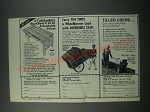 1979 Garden Way Ad - Workbench, Cart and Troy-bilt Roto-Tiller