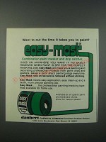 1979 Daubert Chemical Easy-Mask Painting Tape Ad - Cut The Time it Takes