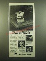 1980 Deft Clear Wood Finish Ad - The Quick and Easy Way to Make Beautiful