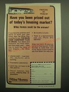 1980 Miles Homes Ad - Have You Been Priced Out of Today's Housing Market?