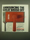 1980 Shur-Line Pad Painter Ad - Announcing the Great Brush-Off