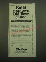 1980 Old Town Canoe Ad - Build Your Own