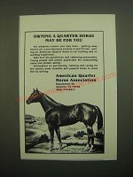 1980 American Quarter Horse Association Ad - May Be For You