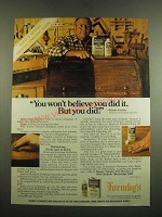 1982 Formby's Tung Oil and Furniture Refinisher Ad - Won't Believe You Did It
