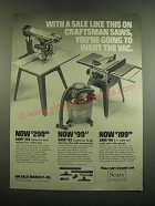1982 Sears Radial Saw, Craftsman Wet-Dry Vac and Table Saw Ad