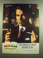 1982 Barclay Cigarettes Ad - The Pleasure is Back