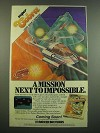 1982 Parker Brothers Super Cobra Video Game Ad - Mission Next to Impossible