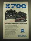 1982 Minolta X-700 Camera Ad - Take Command