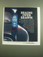 1982 Simoniz Poly Glaze Ad - Brains Over Brawn