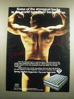 1983 Spring Air Back Supporter Mattress Ad - Some of the Strongest Backs