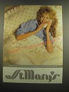1983 St. Mary's Courtship Lace Sheet Ensemble and Performer Blanket Ad