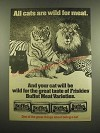 1983 Carnation Friskies Buffet Cat Food Ad - All Cats Are Wild For Meat