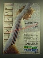 1983 Stayfree Maxi-Pads Ad - Cathy Rigby - Need all the Protection I Can Get
