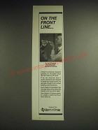 1985 March of Dimes Ad - On the Front Line
