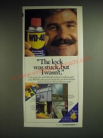 1985 WD-40 Lubricant Ad - The lock was stuck, but I wasn't