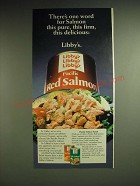1985 Libby's Pacific Red Salmon Ad - There's one word for Salmon this pure