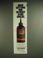 1985 Rust-Oleum Rut Reformer Ad - Now getting rid of rust is no sweat