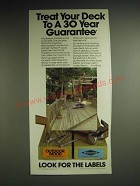 1985 Koppers Wolmanized and Outdoor Wood lumber Ad - Treat your deck to a 30