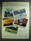 1985 New Zealand Tourism Ad - Harry Bright's good wife, Eloise