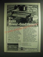 1985 Kuhn Mower Conditioners Ad - Speed Hay Drying up to 50%