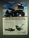 1985 Sears Craftsman Tractor and Rear-Tine Tiller Ad - Plow, till, thatch, bag,