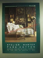 1985 Atelier Martex Irish Garden Linens Ad - Atelier Martex Pure Cotton