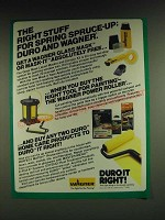 1985 Wagner Glass Mask, Mask It, Power Roller and Duro Home Care Products Ad