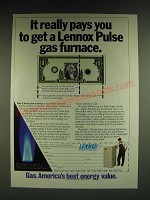 1985 Lennox Pulse Gas Furnace Ad - It really pays you to get a Lennox Pulse gas
