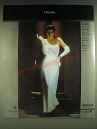 1985 Hoechst Trevira Fiber Ad - fashion by Jill Richards II