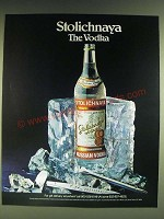 1985 Stolichnaya Vodka Ad - Stolichnaya the Vodka